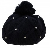 T-C5.1 Beanie with Crystals Dark Blue