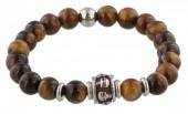 A-C20.4 S. Steel Bracelet with Semi Precious Stones Brown