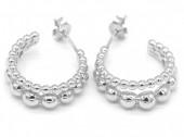 D-C4.1 SE105-005 925S Silver Earrings Dots 15mm