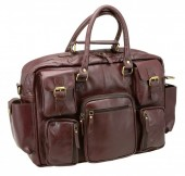 R-D7.2 BAGI-015 Luxury Leather Travel Bag 50x35x14cm
