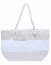 Y-D3.2 BAG327-001 Beach Bag with Glitters White