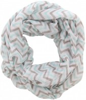 X-E1.1 Loop Scarf with Lines Grey-Blue