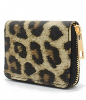 WA214-001 Small Wallet with Leopard Print Brown