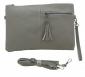 Q-N6.1  BAG014-003 Grey PU Bag 32x21cm