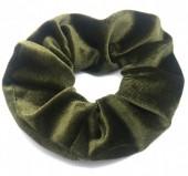 S-A7.1 H305-009A1 Velvet Scrunchie Green