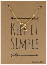 B1759-007 Stainless Steel Bracelet Triangles Gold