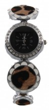 B-F5.6 Metal Watch with Animal Print Round