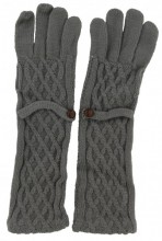 S-D7.4 TR-8615 Long Gloves with Button Grey