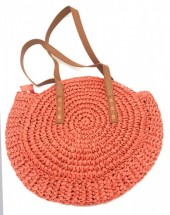 BAG003-001 Straw Bag 30cm Red