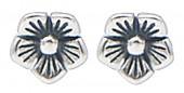 G-E4.4 SE104-269 925S Silver Earrings with 5mm Flower
