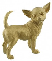 Z-F6.3 Chihuahua Gold Polyester 27x28x13cm