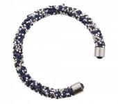 G-B5.5   Crystal Bangle Silver Blue B001ST-001