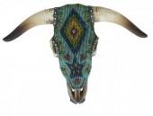 Z-F3.3 #35586 Decorated Aztek Skull 31x23cm