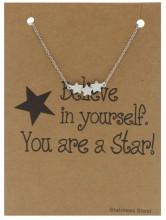 D-F18.2 B015-002 Stainless Steel Bracelet Stars Silver