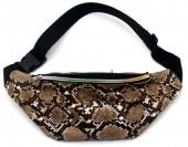 Y-A5.3 BAG524-002A PU Waist Bag Snake Brown