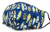 B-A23.2  SKA517 Cotton Fashion Mask with Room for Filter Washable - Feathers