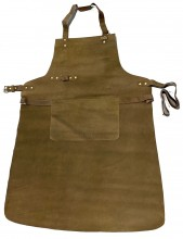 T-M2.2 Leather BBQ Apron 85x65cm Dark Brown