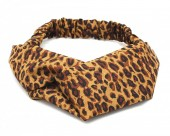 S-E2.1 H039-004 Headband with Leopard Print Brown