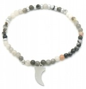 D-A15.3 B010-009S S. Steel Bracelet with Stones
