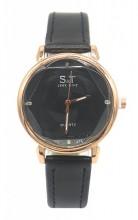 C-D19.3 W523-028 PU Quartz Watch 34mm Black