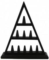 Z-B1.4 Wooden Display Piramid for Rings 30x35cm Black