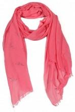 R-K2.1 S106-004 Scarf with Glitter Flamingos 70x180cm Pink
