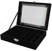 X-P2.1 PK424-075 Luxury Jewelry Box 20x15x5cm Black
