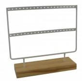 R-N4.1 PK424-004 Wood with Metal Earring Display White 23x22x7cm