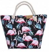 BAG185-004 Beach Bag Flamingos