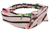 D-C3.9 Headband Flamingo with Flowers Pink