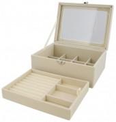 T-F2.2 PK424-072 Luxury Jewelry Box 20x15x8.5cm Beige
