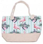 BAG119-005B Beach Bag Flamingo Anchors