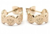 A-A17.3  E001-031RG Stainless Steel Earrings 1cm Rose Gold