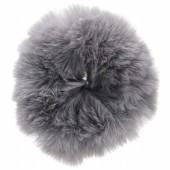 S-E3.5  H414-004C Fluffy Scrunchie Large Grey