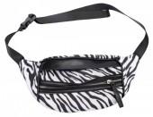 X-L7.1  BAG120-006 Trendy Waist Bag with Zebra Print