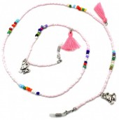 D-A2.3 GL530 Sunglass Chain Beads and Tassels Love Mouse