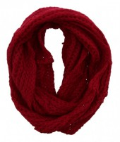 S-C5.2 Knitted Col Scarf Red