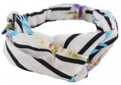 D-E15.4 Headband Flamingo and Flowers White