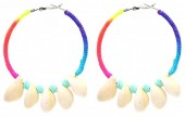F-F20.9 E536-072A E536-072 Earrings 5.5cm Creoles Multi-Bue
