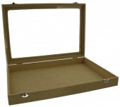 Q-K8.1 Flat Jute Display with Glass Top 35x24x5cm