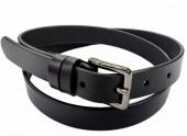 S-E4.4 22171 Leather Belt Black 2.5x95cm