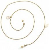 C-B22.1 SGL023 Stainless Steel Sunglass Chain Shells Gold