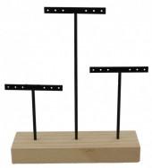 R-G3.2  Wood with Metal Earring Display 22x18x5cm