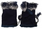 I-F9.1 Hand Warmers with Fur Blue
