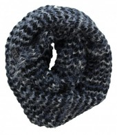 S-H8.1 Knitted Winter Scarf Viscose Grey