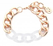 E-C4.2 B2019-013RG Metal Chain Bracelet Rose Gold