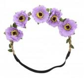 I-F11.2 Ibiza Flowers Headband Purple