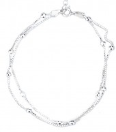 B103-038 925 Sterling Silver Bracelet Layers