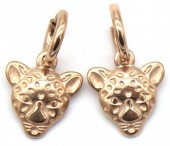 A-A15.2  E2011-009RG S. Steel 10mm Earring with 15mm Tiger Rose Gold