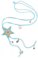 G-D12.2   Necklace Star Blue N009-029 80cm